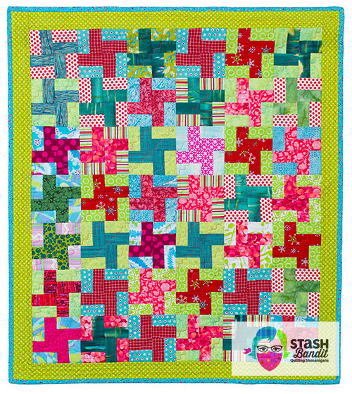 Most basic Baby Windmills quilt; patchwork; scrap quilts
