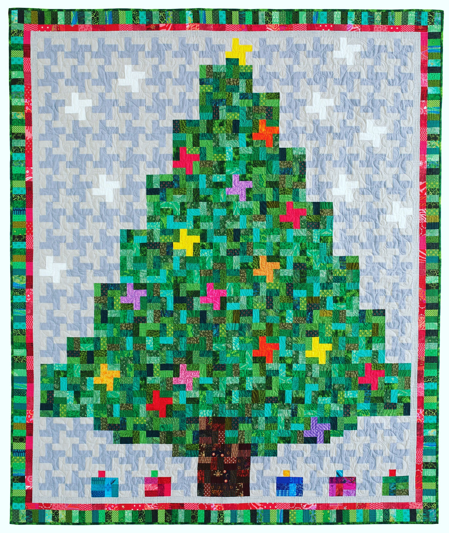 Twinkling Bright by Diane Harris Christmas tree quilt