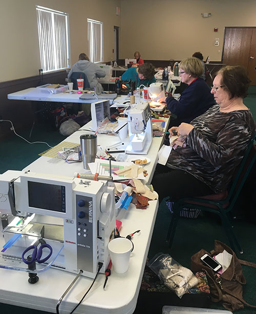 My view at quilt retreat, January 2017