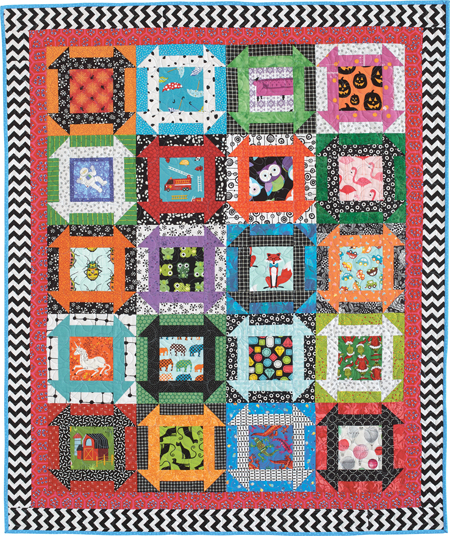 Can You Find It? designed and made by Diane Harris. Easy I Spy quilt makes a great toddler activity!