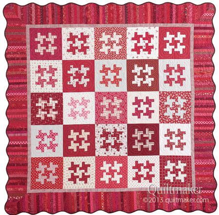 Scarlet Spin by Diane Harris for Quiltmaker