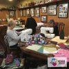 String Piecing at a Quilt Retreat