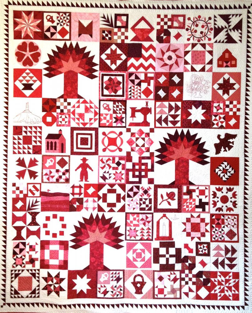 Scarlet Sampler, designed by Diane Harris.