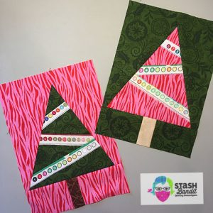 How To Make Christmas Tree Quilt Blocks With Selvage Lights Stash