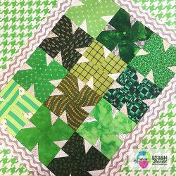 Four Leaf Clover Quilt Free Pattern Stash Bandit